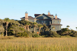 Herlong and Associates, photo of a beach home located on a barrier island overlooking the Atlantic Ocean - photo credit herlong architects